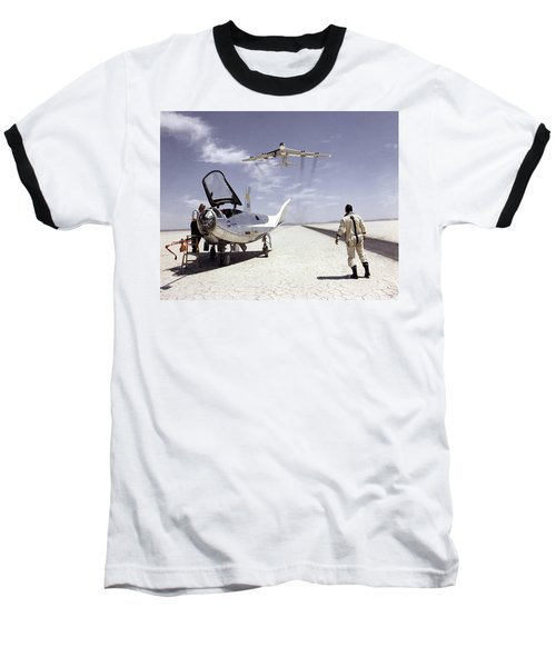Hl-10 On Lakebed With B-52 Flyby Baseball T-Shirt