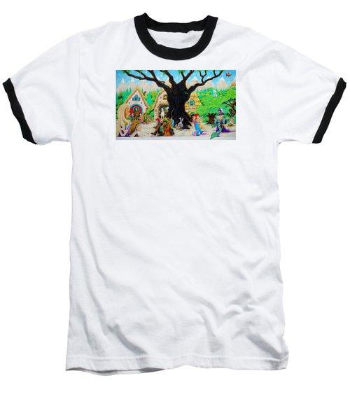 Hobbit Land Baseball T-Shirt by Matt Konar