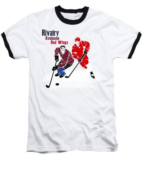 Hockey Rivalry Avalanche Red Wings Shirt Baseball T-Shirt by Joe Hamilton