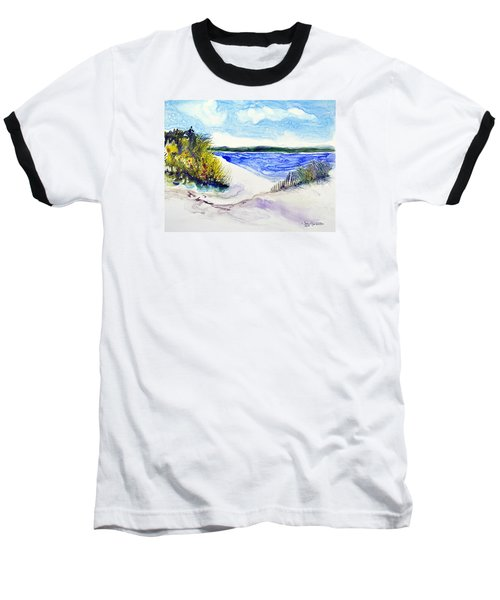 Hole In The Cove Baseball T-Shirt by Joan Hartenstein
