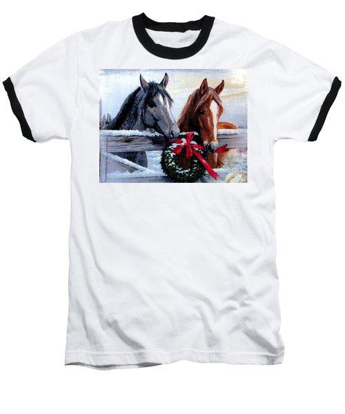 Baseball T-Shirt featuring the photograph Holiday Barnyard by Judyann Matthews