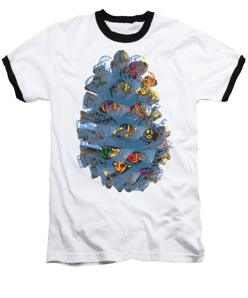 Holiday Blue Cone Baseball T-Shirt