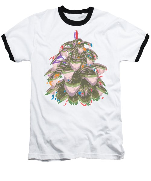 Holiday Green Cone Baseball T-Shirt
