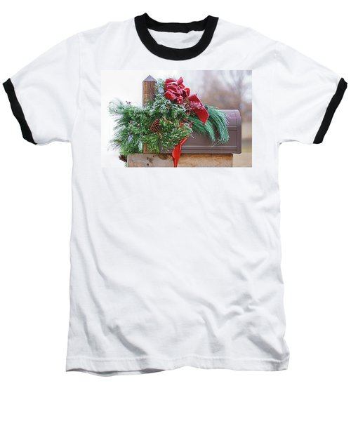 Baseball T-Shirt featuring the photograph Holiday Mail by Nikolyn McDonald