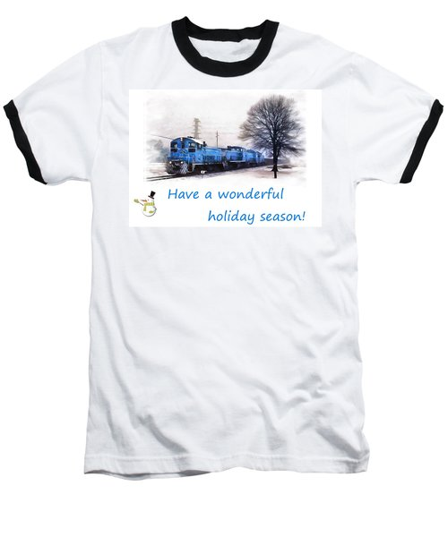 Holiday Train Baseball T-Shirt