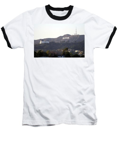 Hollywood Hills And Griffith Observatory Baseball T-Shirt