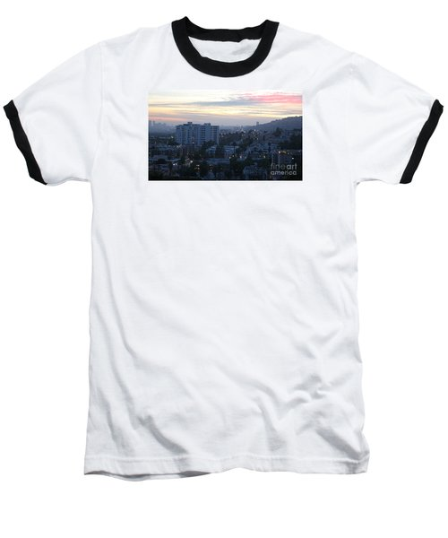 Baseball T-Shirt featuring the photograph Hollywood Sunset by Cheryl Del Toro