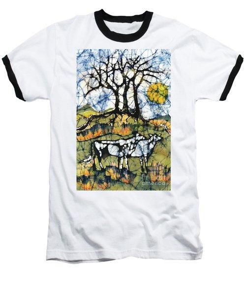 Holsiein Cows Below Autumn Trees Baseball T-Shirt