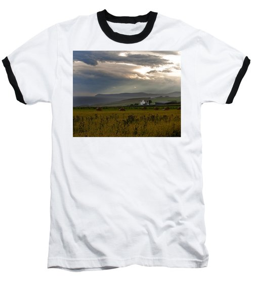 Baseball T-Shirt featuring the photograph Home By The Sea Scotland by Sally Ross