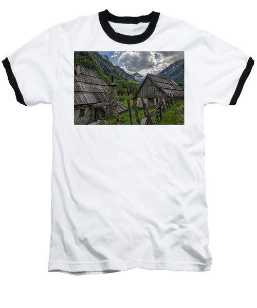 Baseball T-Shirt featuring the photograph Home In The Slovenian Alps #2 by Stuart Litoff