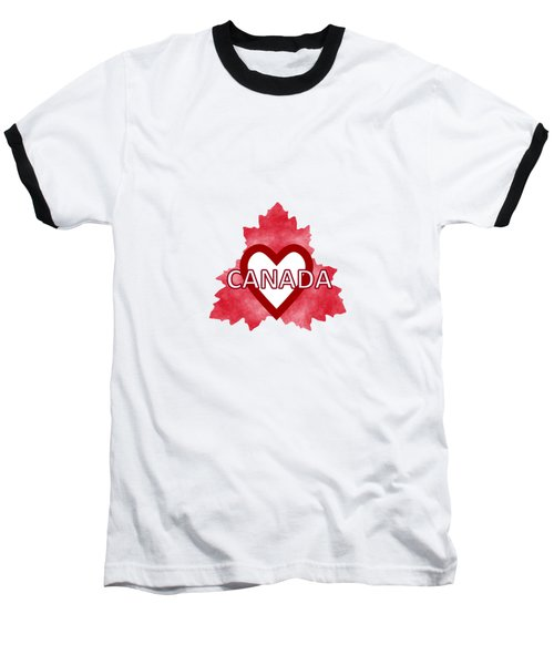 Home Sweet Canada Baseball T-Shirt by Kathleen Sartoris