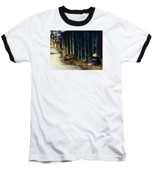 Baseball T-Shirt featuring the digital art Homeless In Hanoi by Cameron Wood