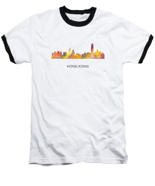 Hong Kong China Skyline Baseball T-Shirt