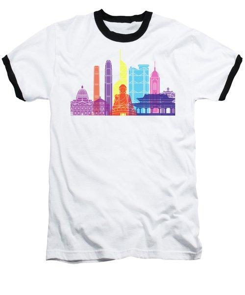 Hong Kong V2 Skyline Pop Baseball T-Shirt