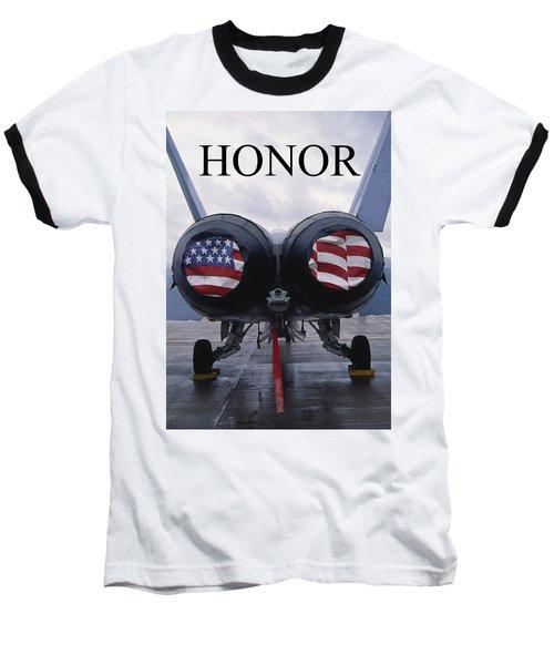 Honor The Flag Baseball T-Shirt