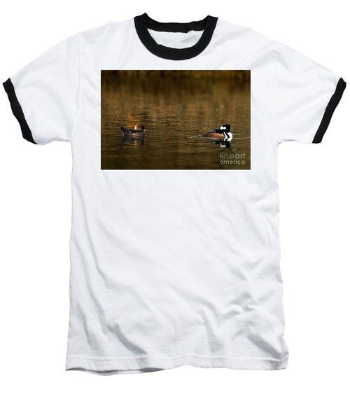 Hooded Mergansers Baseball T-Shirt