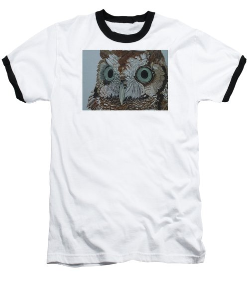 Hooty Who? - Screech Owl Detail Baseball T-Shirt