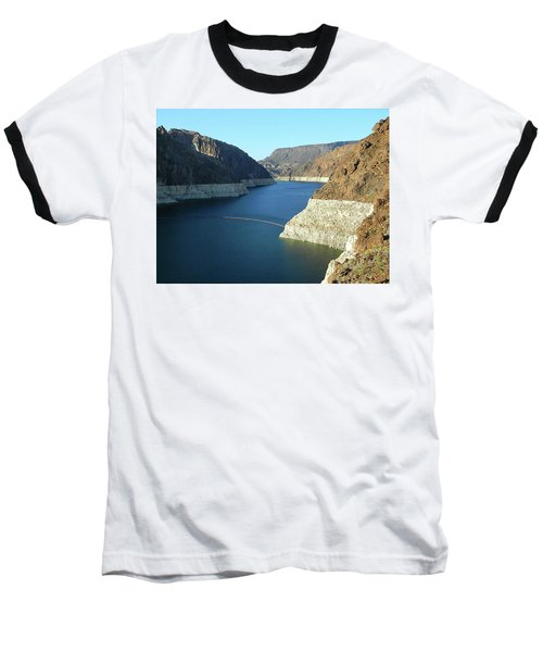 Baseball T-Shirt featuring the photograph Hoover Dam In May by Emmy Marie Vickers
