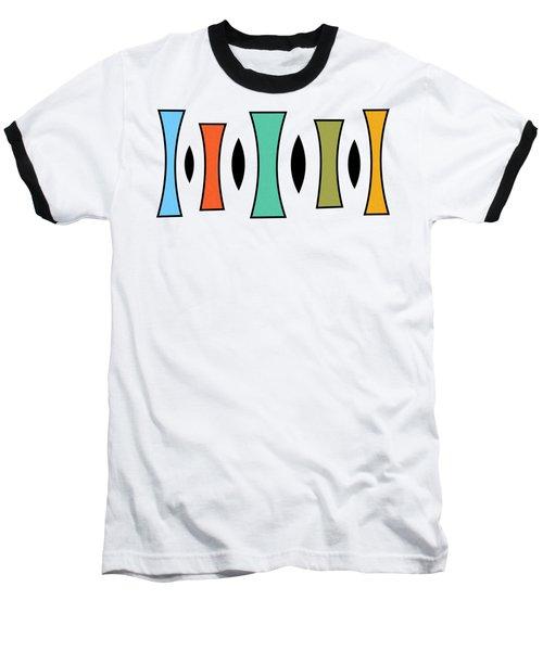 Horizontal Trapezoids Transparent Baseball T-Shirt