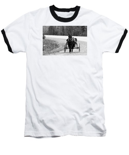 Horse And Buggy Baseball T-Shirt
