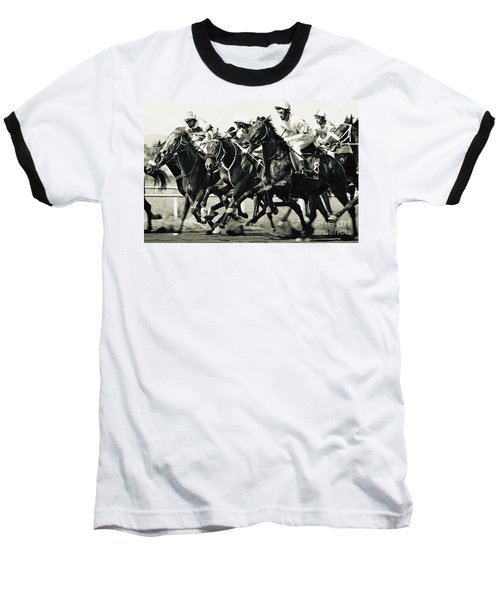 Horse Competition Vi - Horse Race Baseball T-Shirt