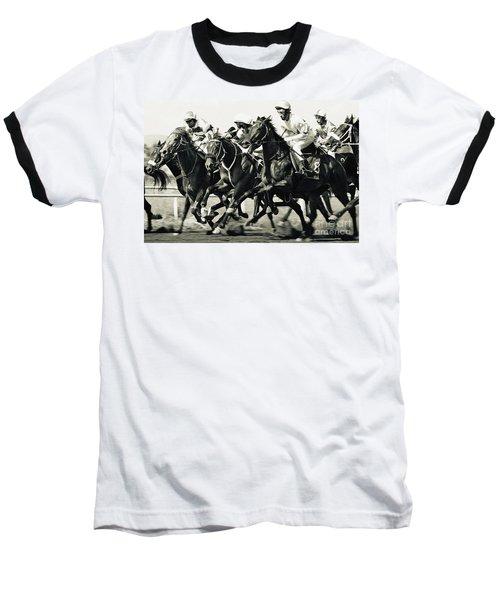 Horse Competition Vi - Horse Race Baseball T-Shirt