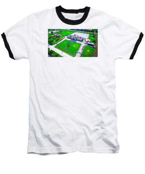 Horse Farm Aerial Baseball T-Shirt