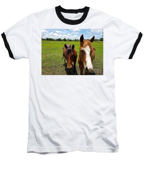 Horse Friendship Baseball T-Shirt