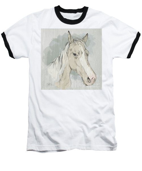 Horse Portrait-farm Animals Baseball T-Shirt