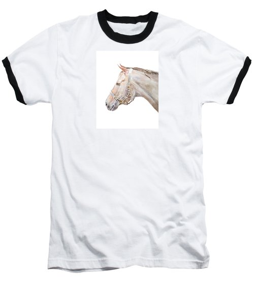 Baseball T-Shirt featuring the painting Horse Portrait I by Elizabeth Lock