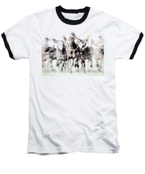 Horse Racing - Parallel Hatching Baseball T-Shirt