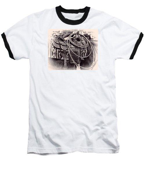 Horse Saddle Baseball T-Shirt