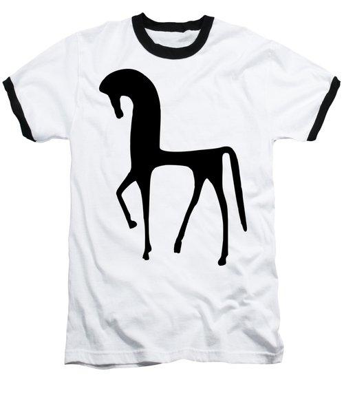 Horse Transparent Baseball T-Shirt