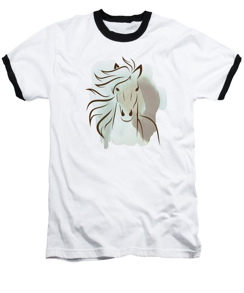 Horse Wall Art - Elegant Bright Pastel Color Animals Baseball T-Shirt