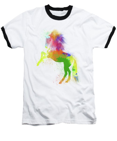 Horse Watercolor 2 Baseball T-Shirt