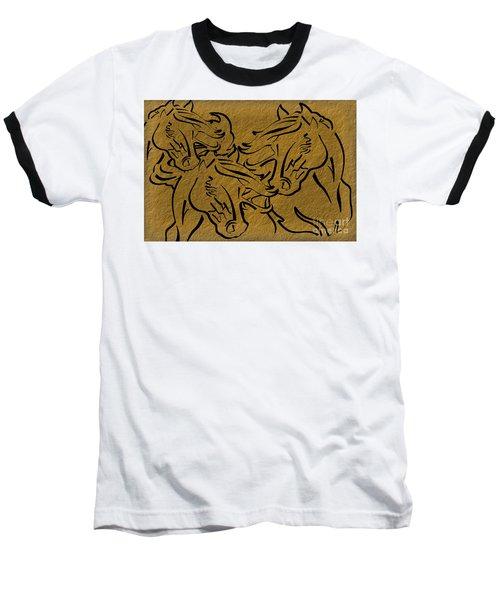 Horses Three Baseball T-Shirt