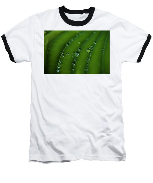 Hostas And Raindrops Baseball T-Shirt