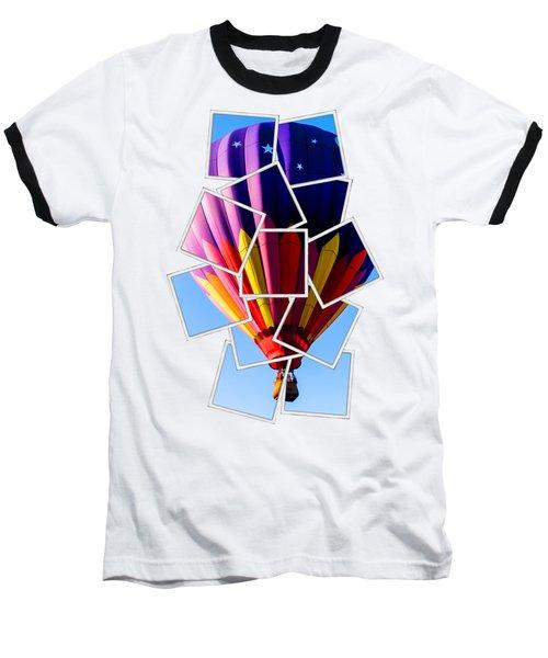 Hot Air Ballooning Tee Baseball T-Shirt by Edward Fielding