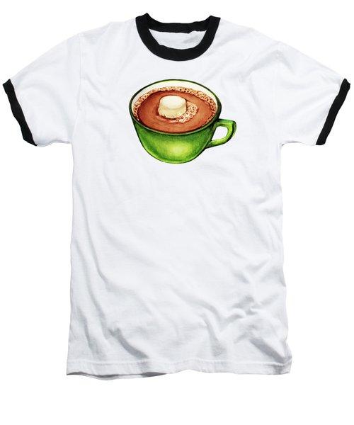 Hot Cocoa Pattern Baseball T-Shirt by Kelly Gilleran