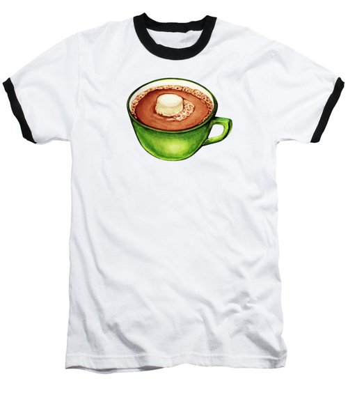 Hot Cocoa Pattern Baseball T-Shirt