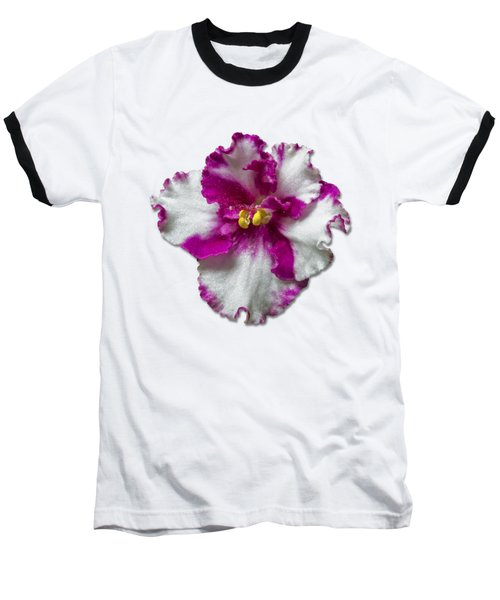 Hot Pink Flower Baseball T-Shirt by Bob Slitzan