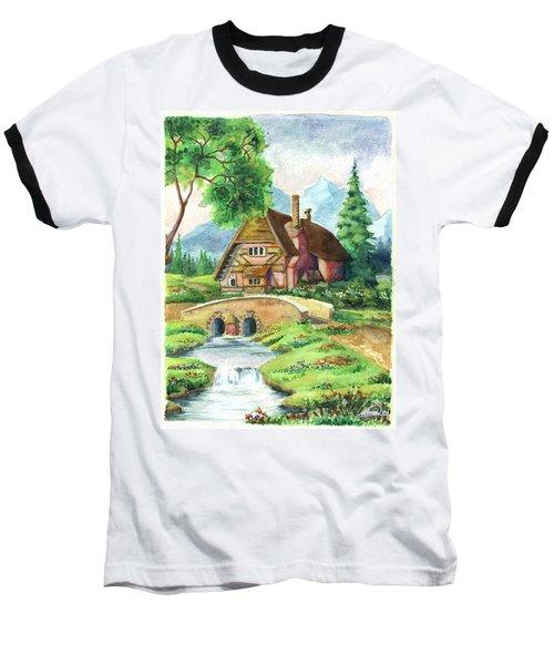 House Along The River Baseball T-Shirt