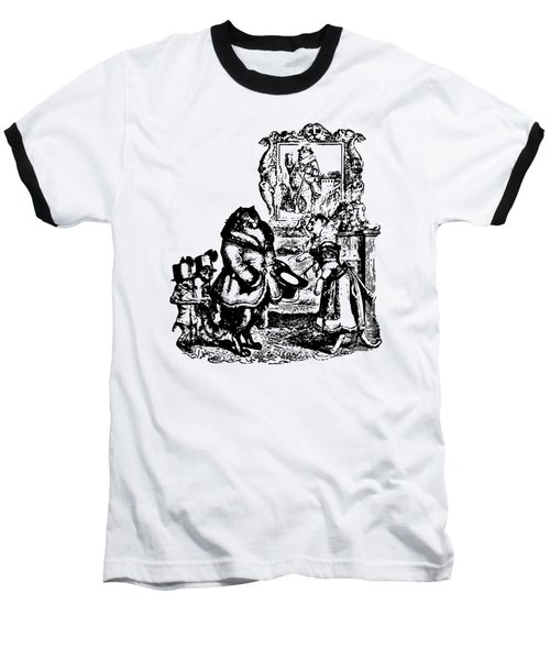 House Guest Cat Grandville Transparent Background Baseball T-Shirt