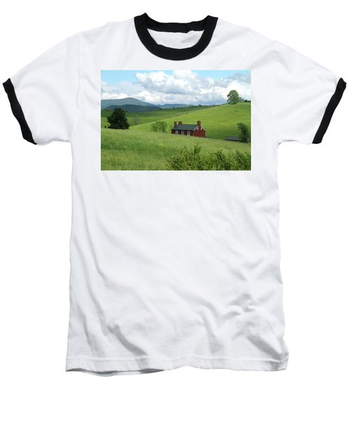 Baseball T-Shirt featuring the photograph House In The Hills by Emanuel Tanjala
