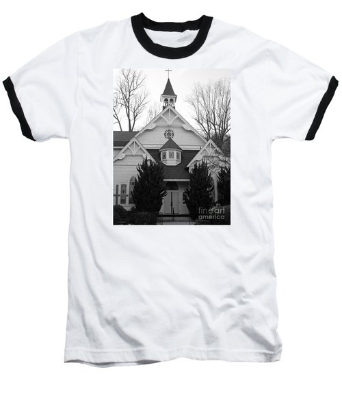 Baseball T-Shirt featuring the photograph House Of Prayer by Emmy Marie Vickers