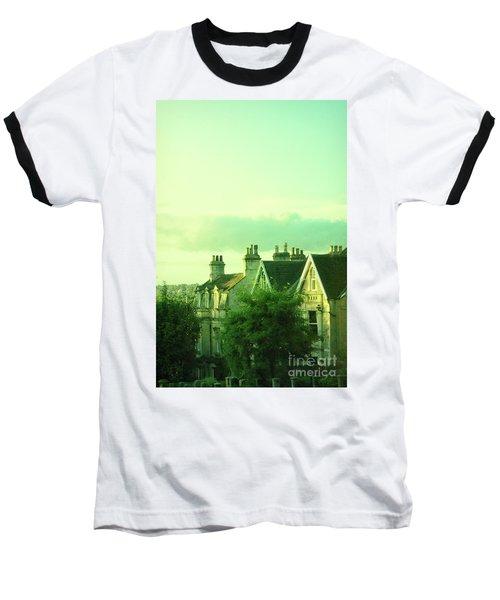 Baseball T-Shirt featuring the photograph Houses by Jill Battaglia