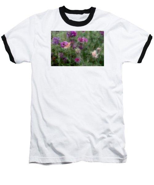 How I Love Flowers Baseball T-Shirt by The Art Of Marilyn Ridoutt-Greene