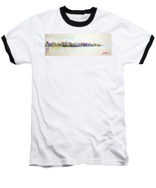 Hudson River View Baseball T-Shirt