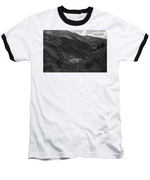 Hugged By The Mountains Baseball T-Shirt