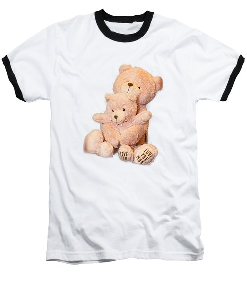 Hugging Bears Cut Out Baseball T-Shirt